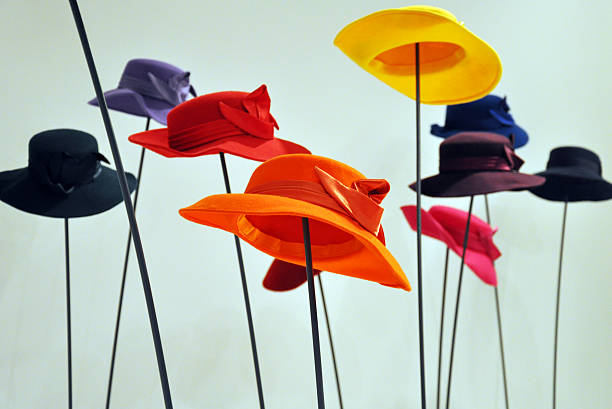 Colorful hats stock photo