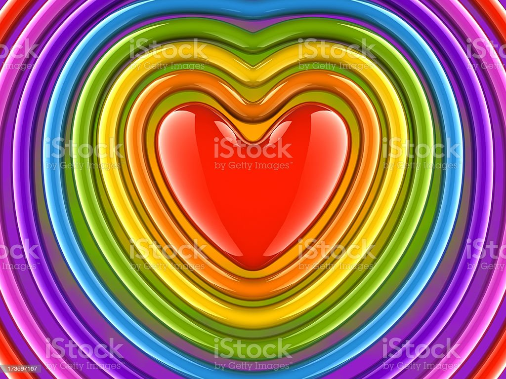 Colorful Heart Background stock photo