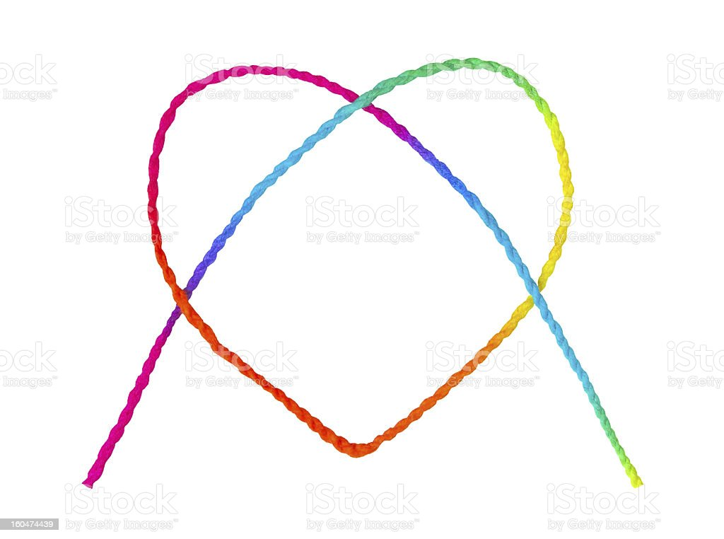 Colorful heart shape royalty-free stock photo