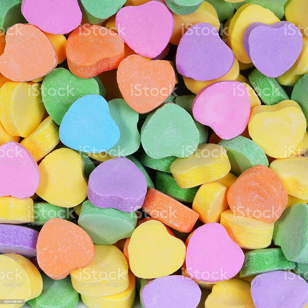 Colorful Hearts background. Valentines Day stock photo