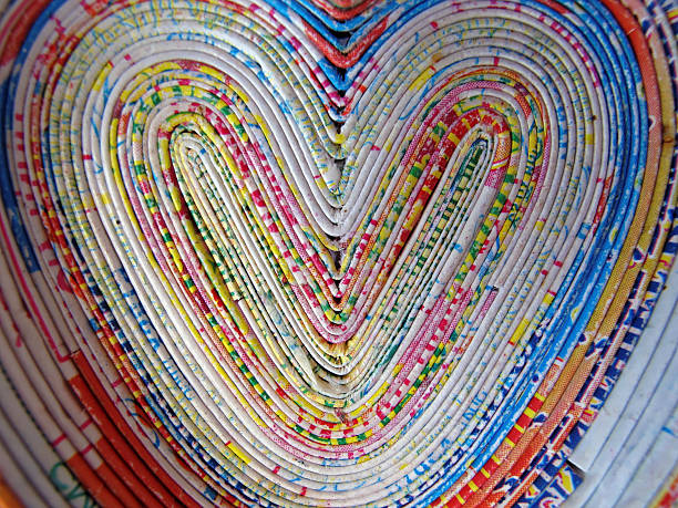 colorful hearts - recycling heart bildbanksfoton och bilder