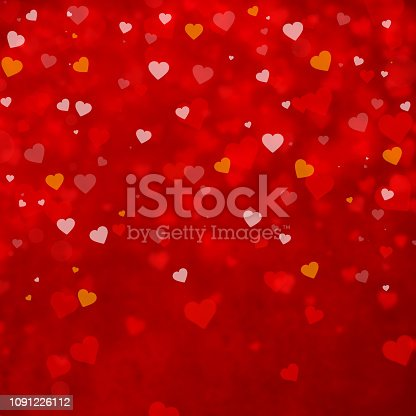 Colorful Hearts Valentines Day Background