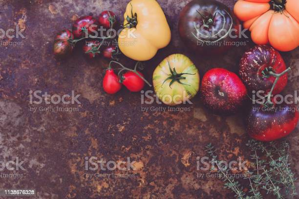 Colorful Heirloom Tomatoes Fresh From My Organic Country Garden Stock Photo - Download Image Now