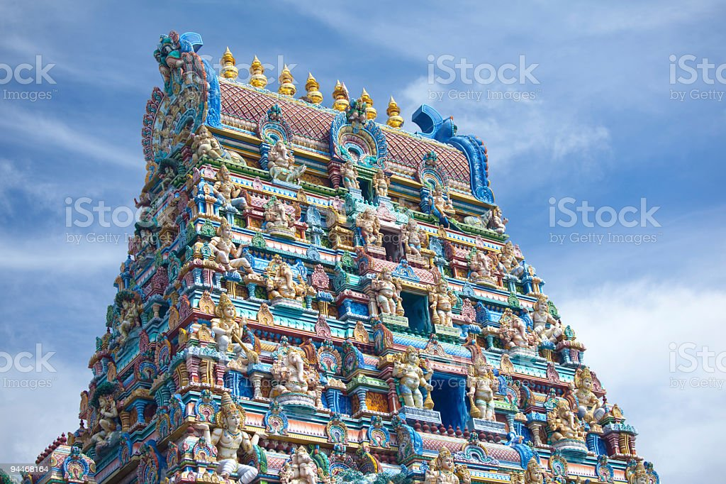 colorful hindu temple stock photo