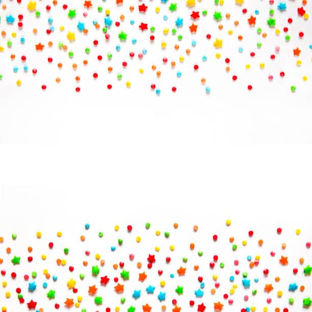 colorful holiday background with copy space - posypka zdjęcia i obrazy z banku zdjęć