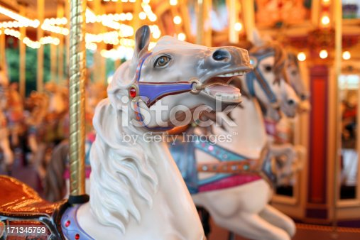 Colorful Holiday Carousel Horse
