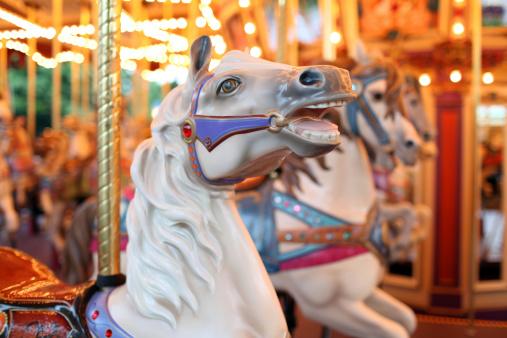 Colorful Holiday Carousel Horse - XXXLarge