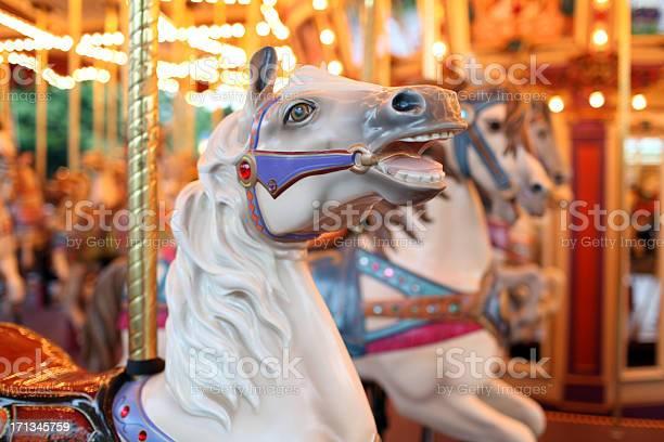 Photo of Colorful Holiday Carousel Horse - XXXLarge