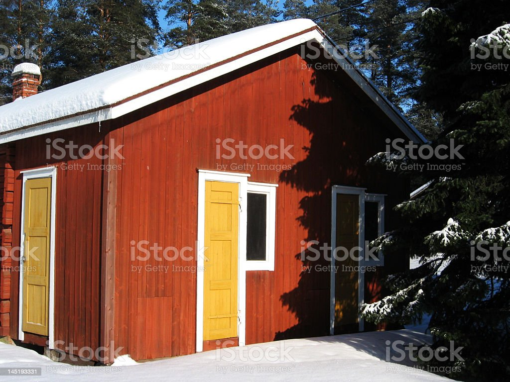 Colorful holiday cottage royalty-free stock photo