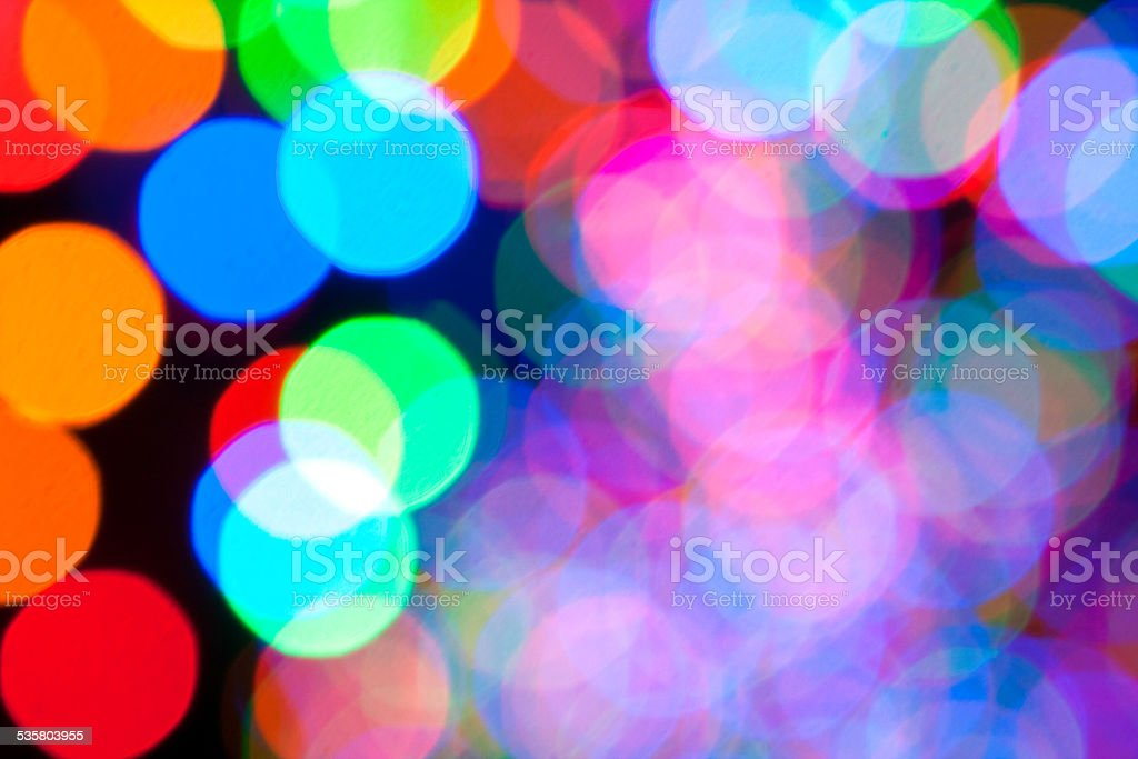 Colorful Holiday Lights Create Bokeh Background stock photo