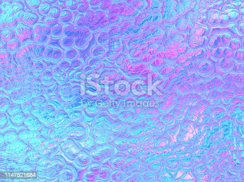 istock Colorful Holographic Foil Faceted Crystal Bubble Pattern Blue Purple Teal Pink Pearl Background Abstract Snake Reptile Lizard Skin Crocodile Leather Texture 1147521684