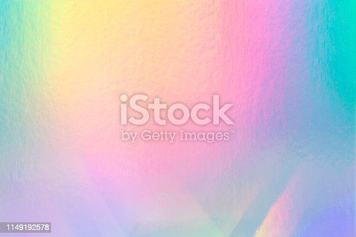 istock colorful holographic paper with rainbow lights. 1149192578