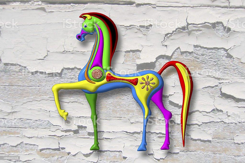 Bunte Horse – Foto