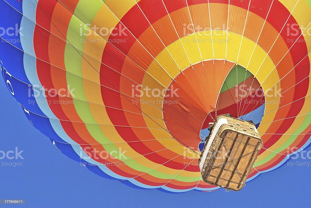 Colorful hot air ballon stock photo