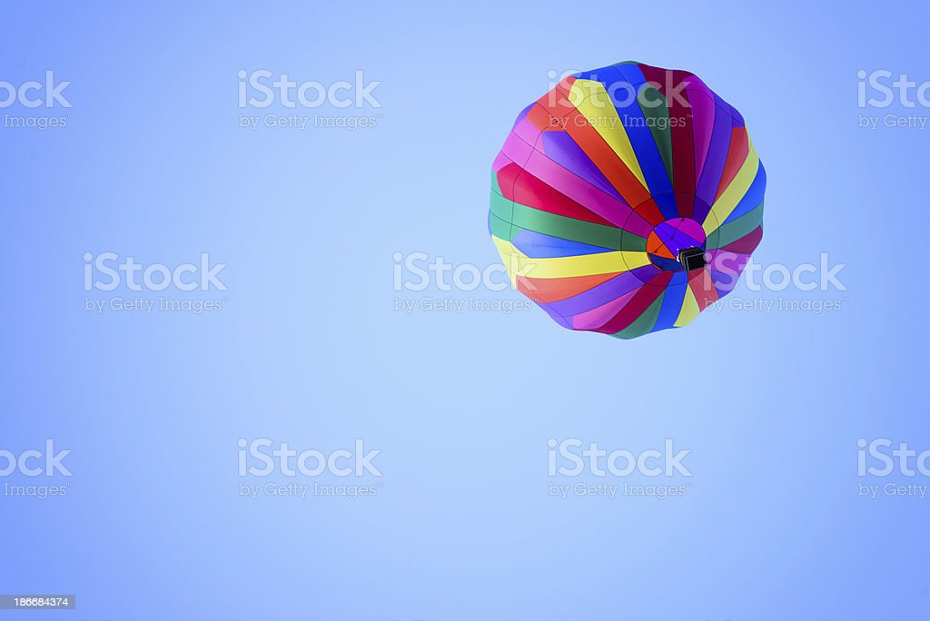 Colorful Hot Air Balloon Drifting in the Sky - Horizontal royalty-free stock photo
