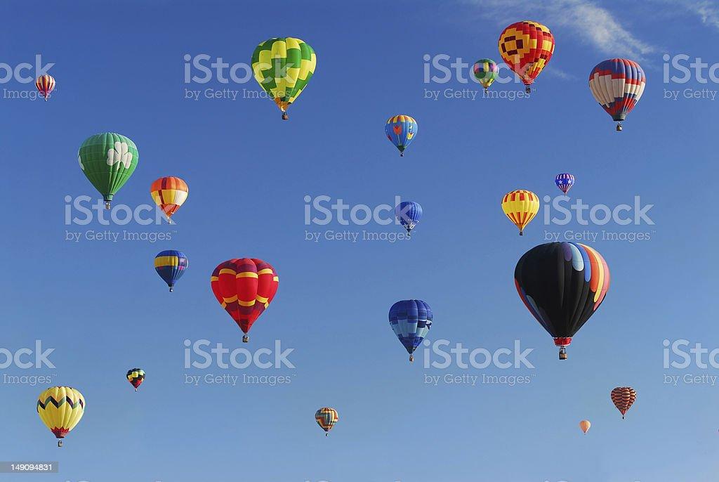 Colorful hot air balloons royalty-free stock photo