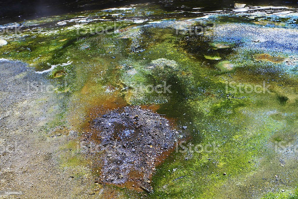 Colorful hot spring deposits royalty-free stock photo