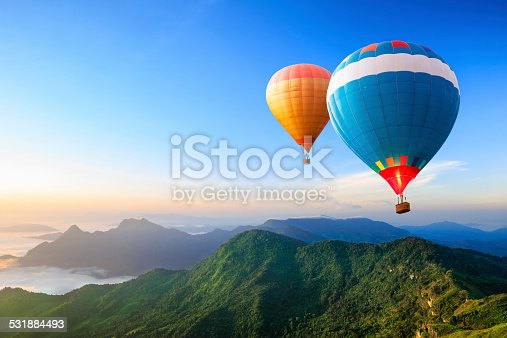 istock Colorful hot-air balloons 531884493