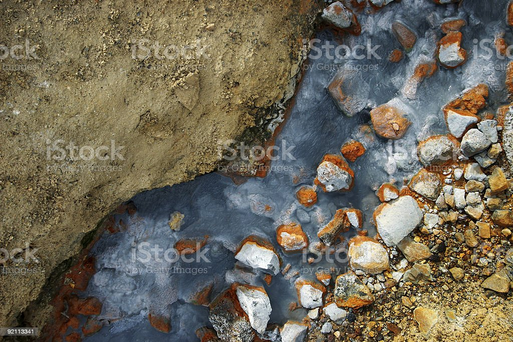 Colorful hotspring royalty-free stock photo