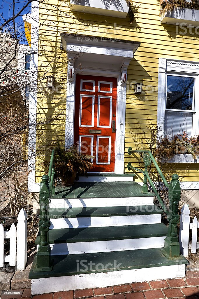 Colorful House Entrance, Chicago royalty-free stock photo