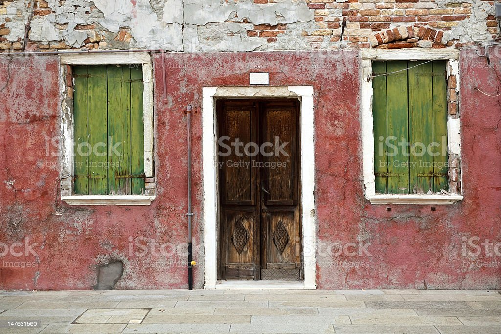 Colorful house in Burano island, Venice, Italy royalty-free stock photo