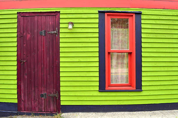 Colorful House in St. John, Newfoundland, Canada stock photo