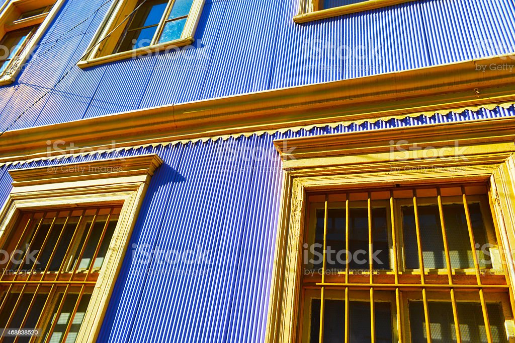 Colorful house in valparaiso royalty-free stock photo