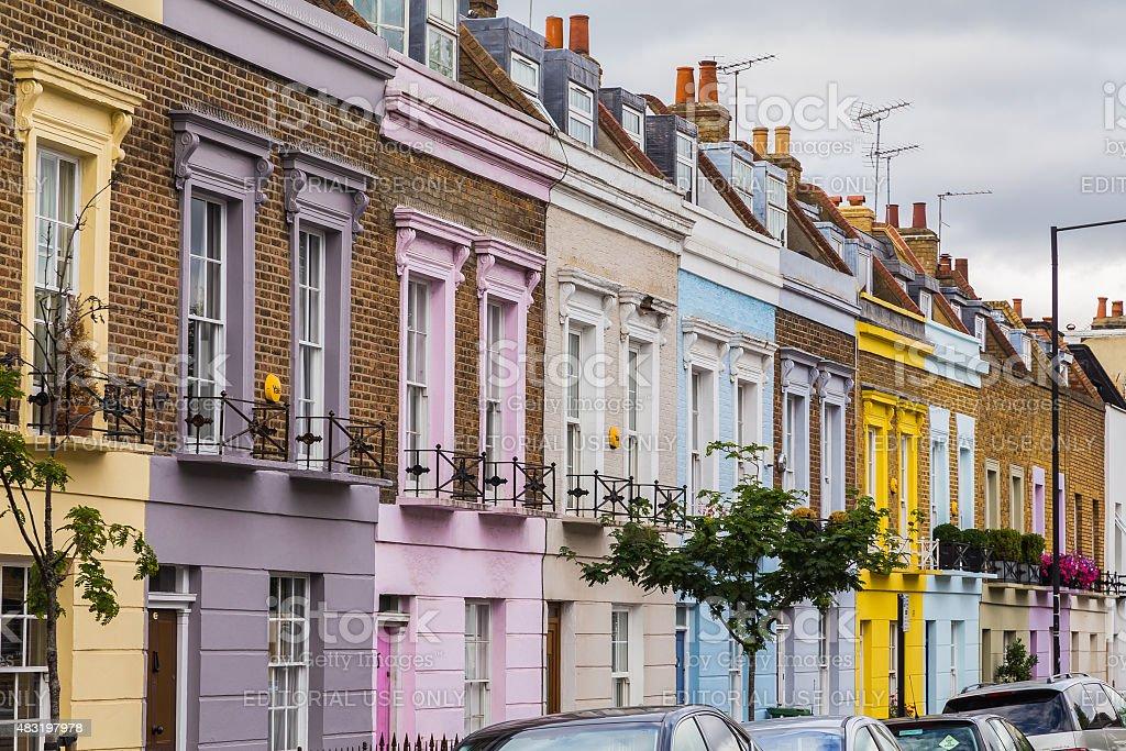 Colorful Houses along Hartland Road London stock photo