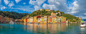 istock Colorful houses and seashore of picturesque italian city Portofino in the province of Liguria, Italy 1198697651
