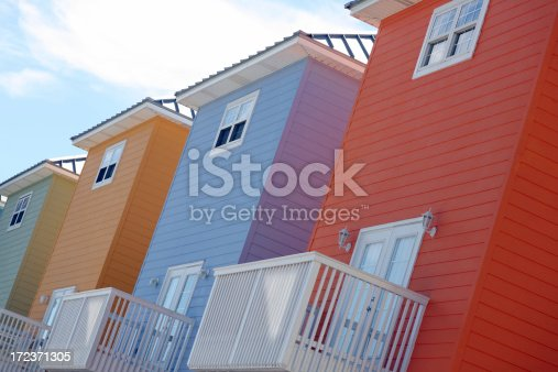 istock Colorful houses in a row 172371305