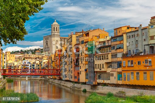 istock Colorful houses in Girona, Catalonia, Spain 511379124