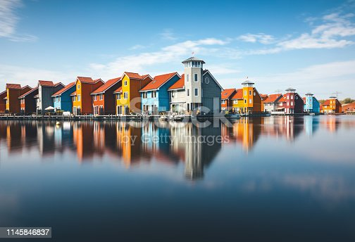 istock Colorful Houses In Groningen 1145846837