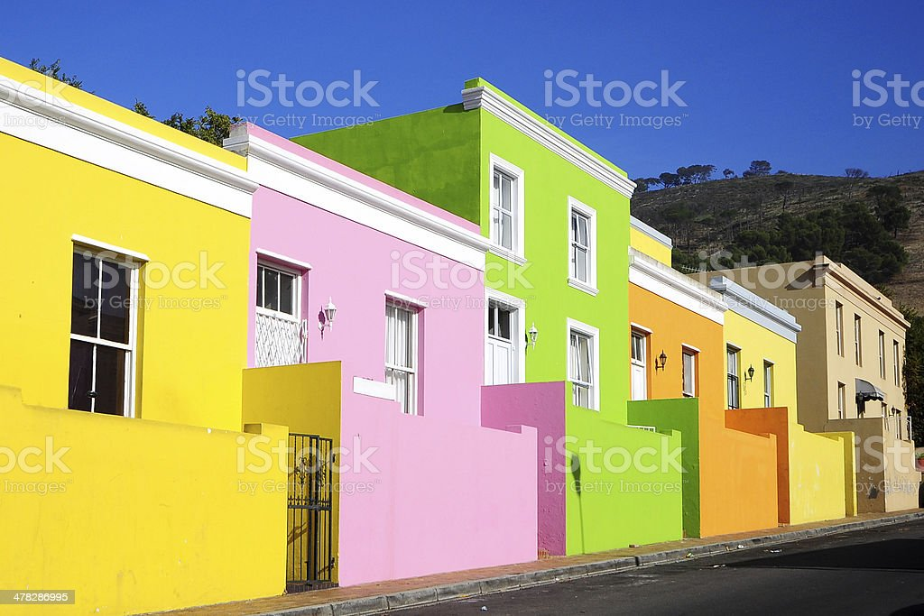 Colorful houses in Old Malay Quarter stock photo