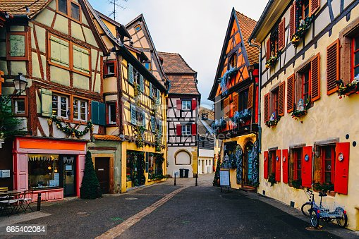 istock Colorful Houses in Petit Venice, Colmar, France 665402084
