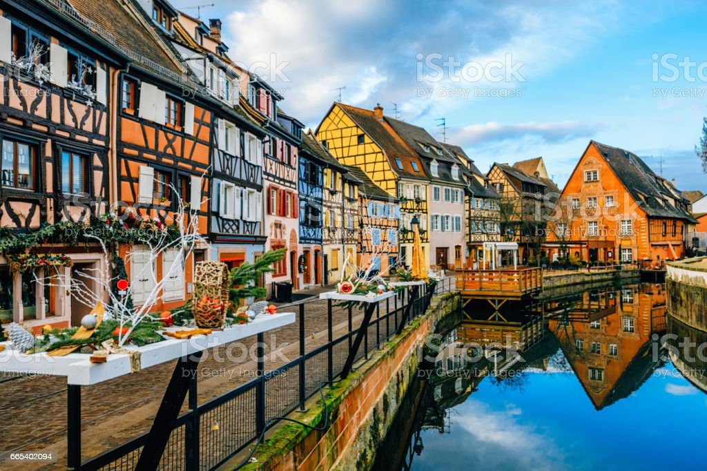 Colorful Houses in Petit Venice, Colmar, France - foto stock