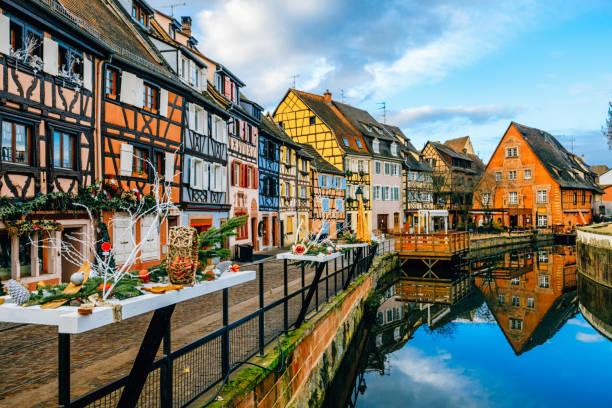 Colorful Houses in Petit Venice, Colmar, France - foto stock