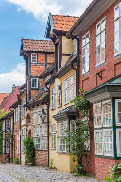 Colorful houses in the historic center of Luneburg, Germany Colorful houses in the historic center of Luneburg, Germany lüneburg stock pictures, royalty-free photos & images