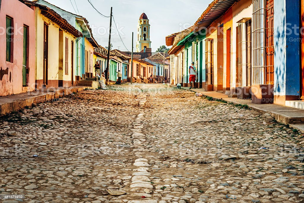 colorful houses in Trinidad, Cuba stock photo