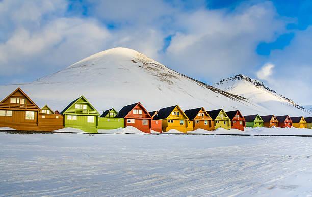 Colorful houses, Longyearbyen, Spitsbergen, Svalbard, Norway – Foto