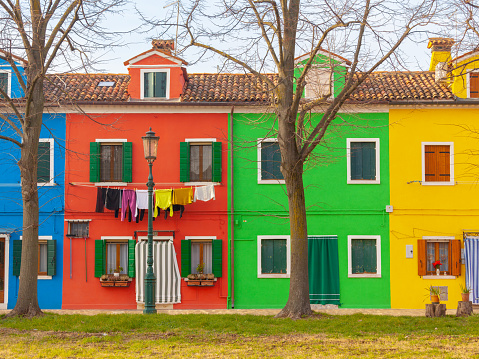 Colorful houses of Burano Island
