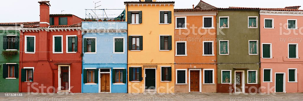 Colorful houses of Burano, Italy royalty-free stock photo