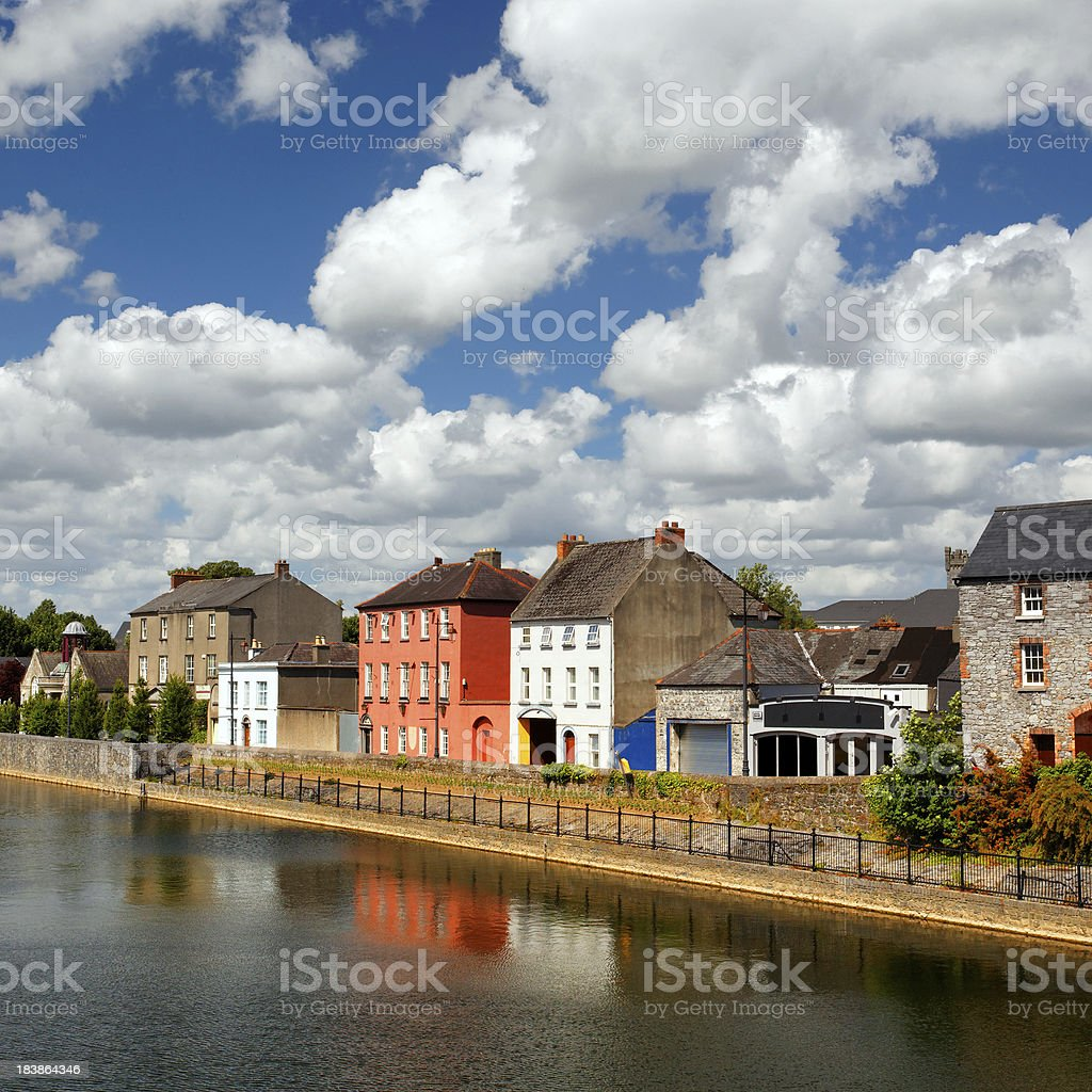 Colorful houses of Kilkenny, Ireland stock photo