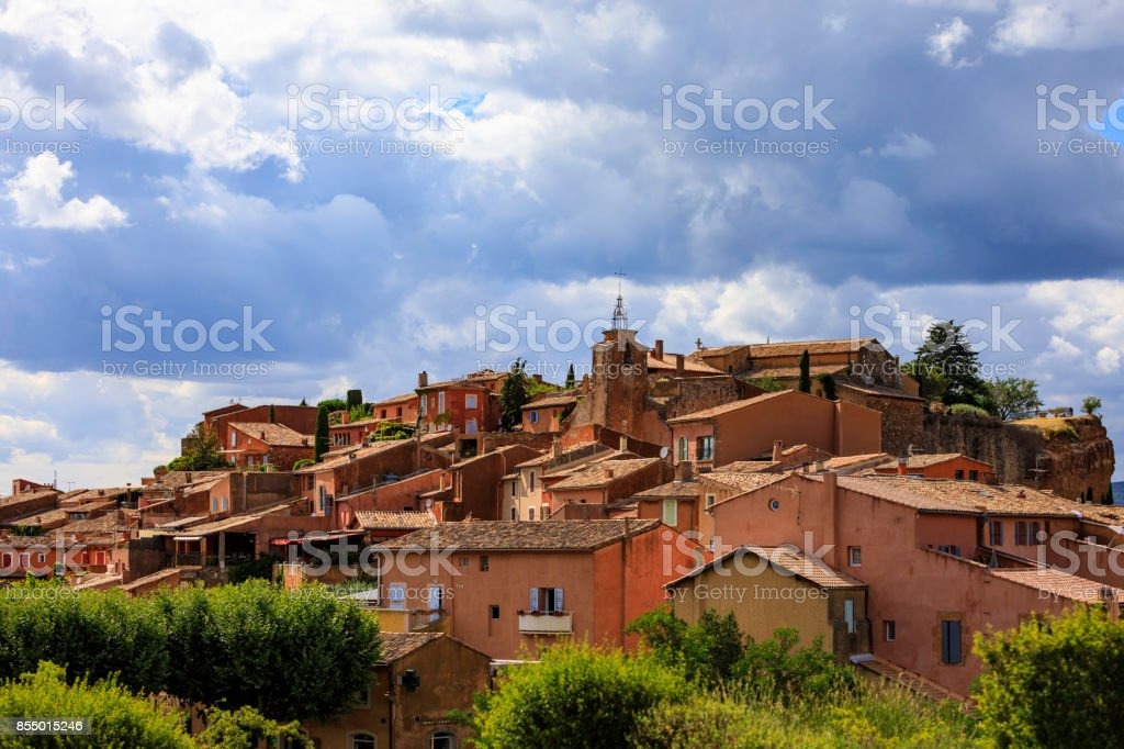 Colorful houses of Provence stock photo