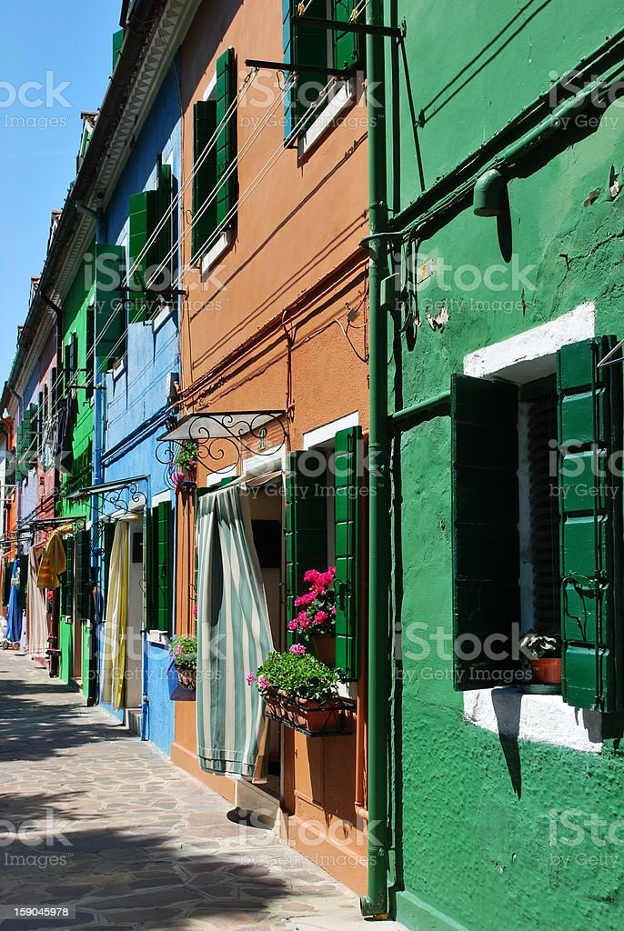 Colorful houses royalty-free stock photo