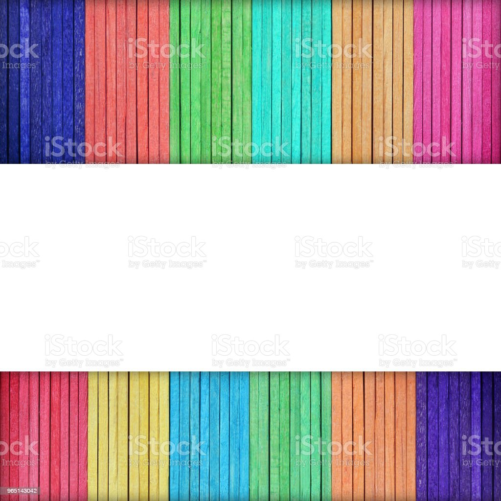colorful ice cream sticks. colorful wood royalty-free stock photo