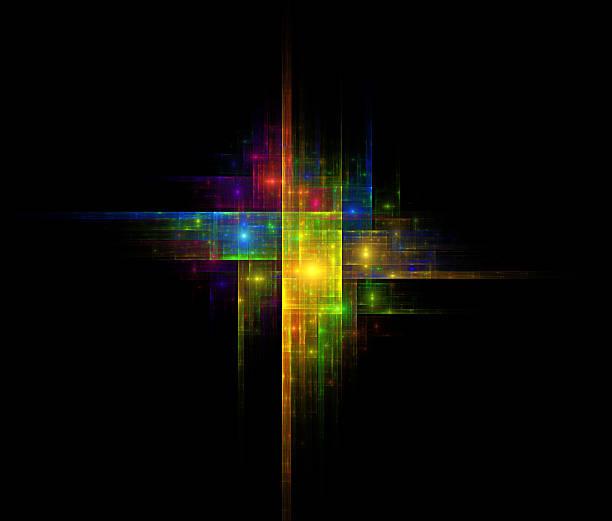 Colorful illusion background stock photo