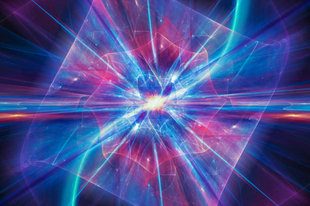 Colorful illustration of quantum theory Colorful illustration of quantum theory, computer generated abstract background, 3D rendering large hadron collider stock pictures, royalty-free photos & images