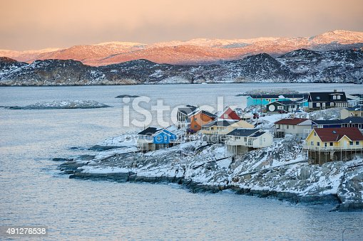 Colorful Ilulissat in Sunset, Greenland