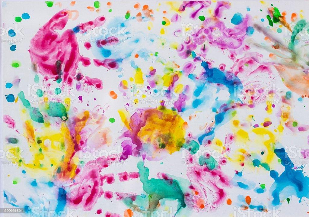 Bunte Bild Mit Mehrfarbigen Muster Auf Baby Hand Stockfoto Istock