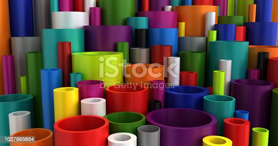 Colorful Industrial Plastic Pipes